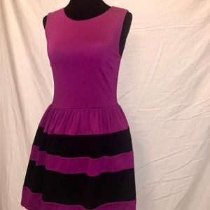 💫plum striped dress